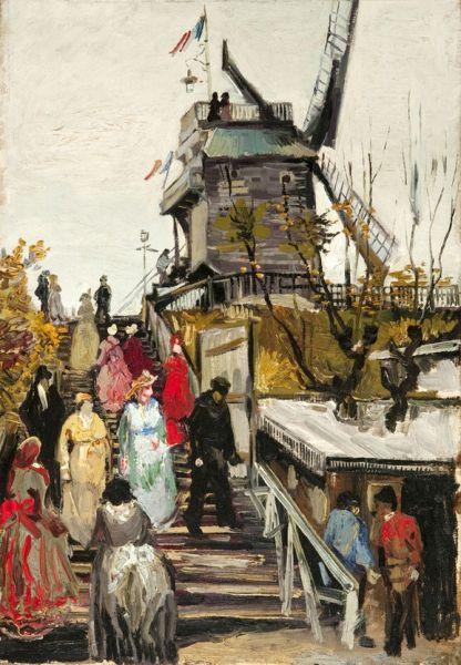 梵高画作《布吕特芬风车磨坊》