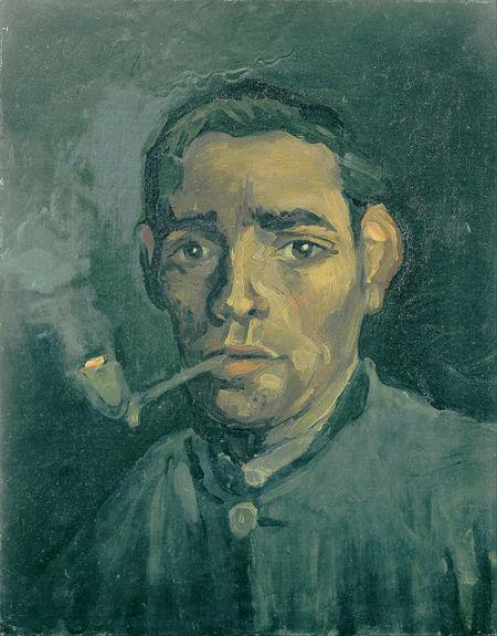 被澳大利亚维多利亚国家博物馆错认梵高真迹的《男人头像》