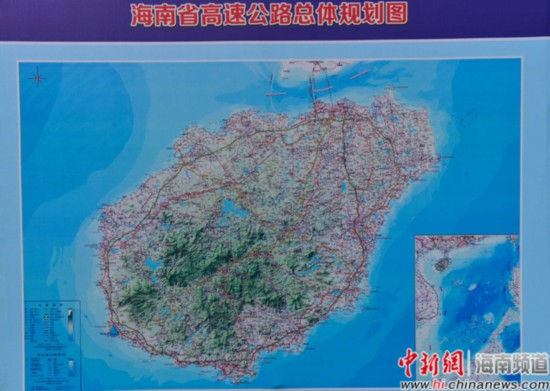 图为海南省高速公路总体规划图(翻拍)。骆云飞摄