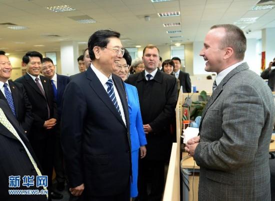 (XHDW)(1)张德江考察华为公司俄罗斯子公司