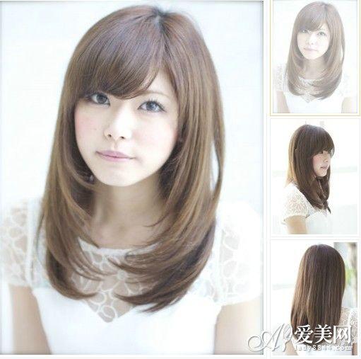 亚麻色中长款直发 -最新日系亚麻色染发 甜美显白又减龄