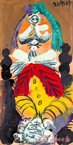 毕加索《坐着的男人》拍出960万元