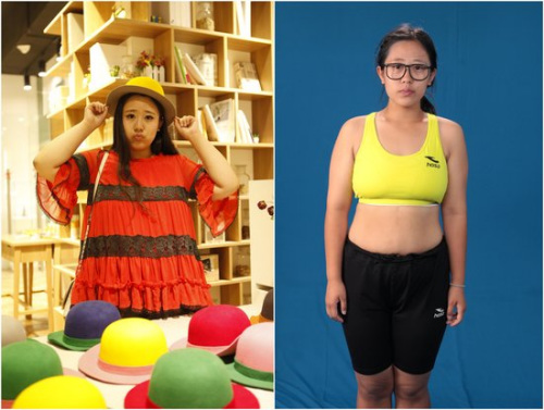 210斤 最美女胖子 两月甩60斤网友吐槽一脸苦相 图 图片 77k 500x377