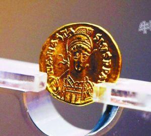 洛阳古墓出土东罗马金币
