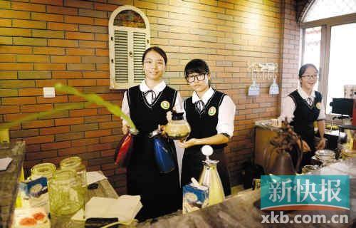 广雅中学设咖啡馆 学生当小老板(图)