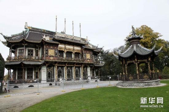 (国际)(1)布鲁塞尔百年中国楼和日本塔关闭维修