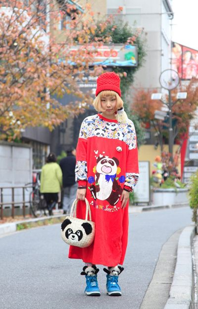 日本美女街头时尚:冬日里的一米阳光(美女)比真实考组图图片