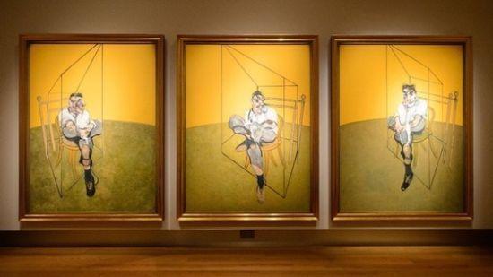 弗兰西斯·培根这幅三联画在纽约拍出1.42亿美元天价。(图片来源:英国媒体)
