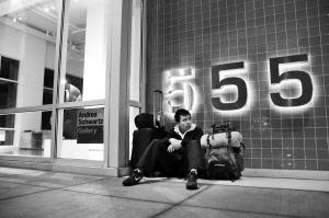 肖志鹏在旧金山夜宿路边(资料图)