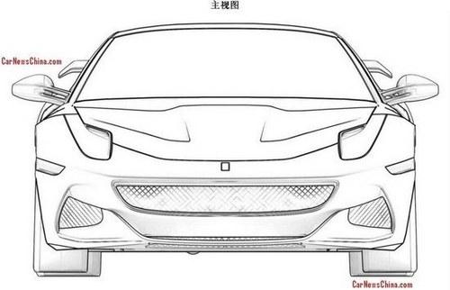 疑似新一代 法拉利F12敞篷版设计图曝光