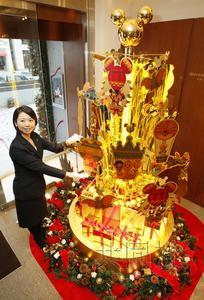 日本一公司推出纯金圣诞树 价值5亿日元(图)