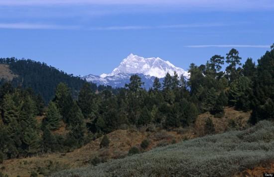 不丹干卡本森峰