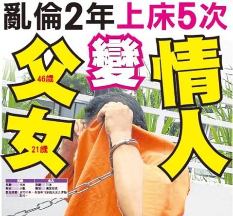 大马华裔父女变情人乱伦达2年发生5次性关系(图)