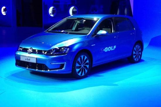 大众e Golf电动车亮相洛杉矶 明年在美上市