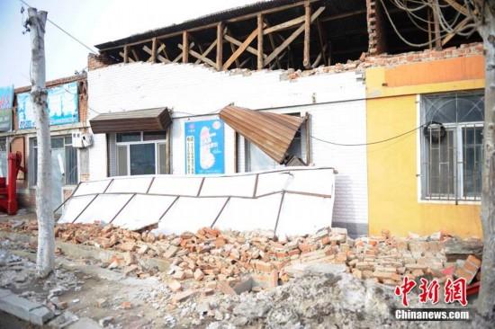 吉林松原连发地震 房屋受损严重宾馆商店停业