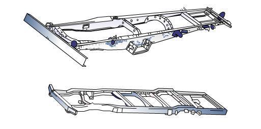 电动三轮车使用汽车车架的优越性图片