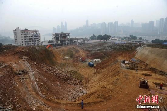 重庆朝天门拆迁老旧港客运站 将建 摩天大楼图片