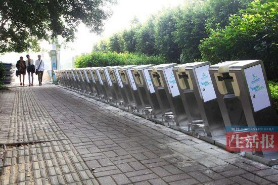 自行车简笔画图片(第2张); 南宁千辆公共自行车月底将上街 1小时内