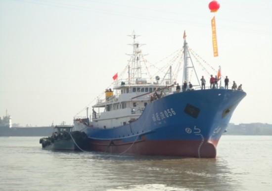 州市海之星首艘远洋渔船竣工下水