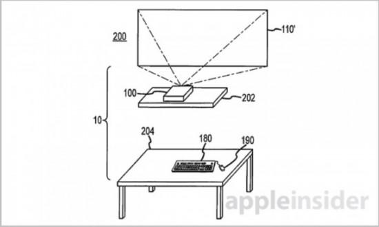 苹果新型电脑专利曝光:主机箱内置投影功能