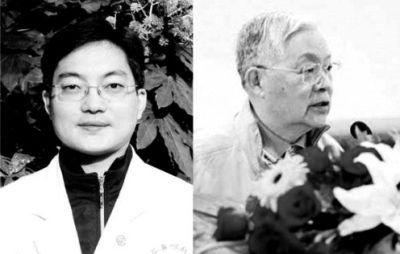 王宇澄(左)曾是王正敏的学生与亲密助手,他认为自己在导师评选院士过程中立下汗马功劳,却未获回报。师徒最终反目。
