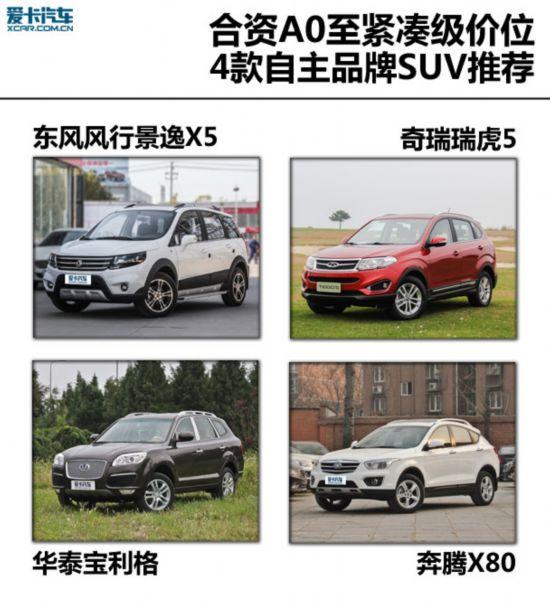 合资价位更多选择 4款自主品牌SUV推荐