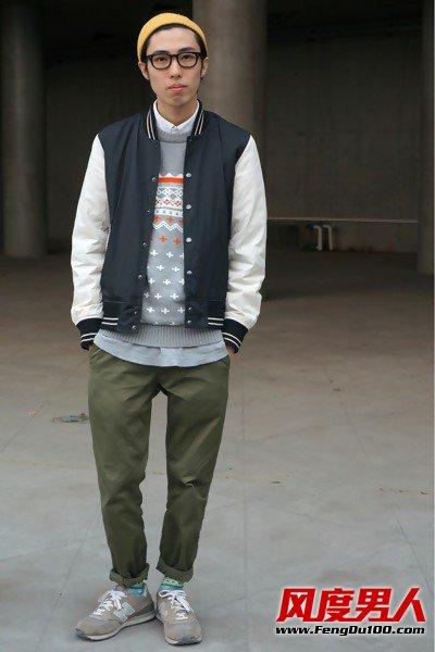 潮男冬季衣服搭配潮流混搭风个性魅力