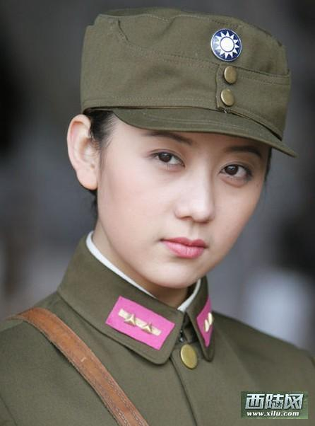 电视剧军服美女集中营:朱茵国军制服照最惊艳