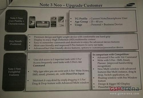 三星Galaxy Note 3 Neo配置全曝光