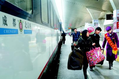 成都到北京最快列车T58次特快开行 全程23小