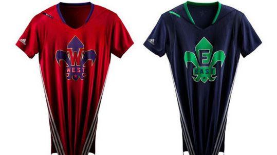 NBA全明星战袍疑似泄露短袖球衣有很多改动(图)
