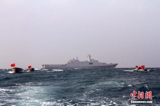 南海舰队远海训练编队巡航西沙 组图