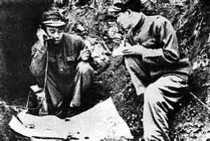 图:吴信泉在朝鲜战场指挥作战