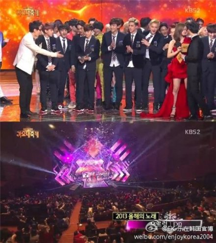 EXO横扫各大颁奖礼 人气爆棚登顶在即 图