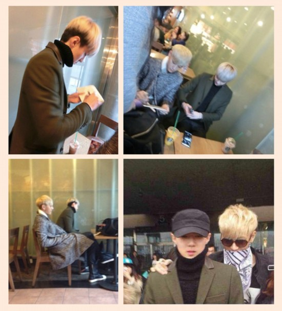 青岛/2014马年初一,EXO吴世勋从韩国到山东青岛找TAO游玩。...