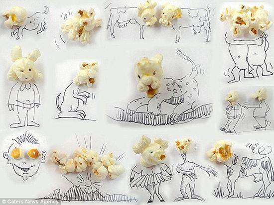 巴西艺术家尼斯爱用食物作画