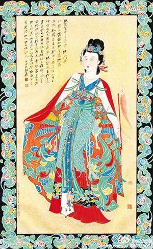 2013年5月,张大千画作《红拂女》在中国嘉德以7130万元成交。