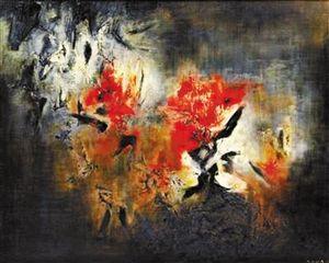 2013年12月,赵无极画作《抽象》在苏富比北京艺术周上,拍出了8968万元。