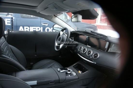 【新款S级Coupe双门跑车量产车型内饰】-最高端 奔驰S级Coupe量产