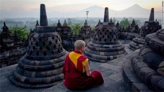 风景 印度尼西亚/婆罗浮屠佛塔,印度尼西亚