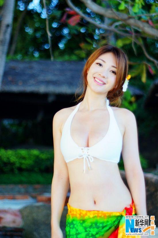 柳岩唯美比基尼写真露小蛮腰 海滩起舞【4】