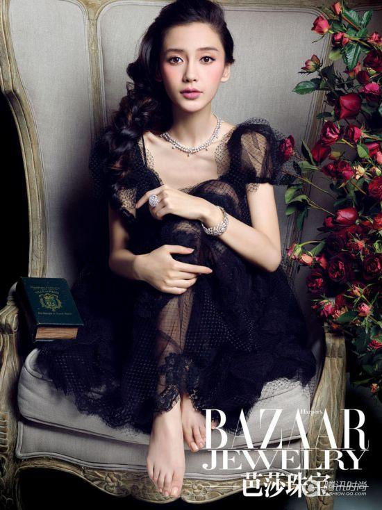 Angelababy杂志复古写真 性感甜蜜图【4】