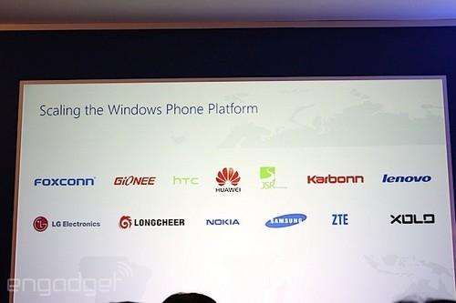 包含LG和联想 微软公布新WP硬件合作伙伴