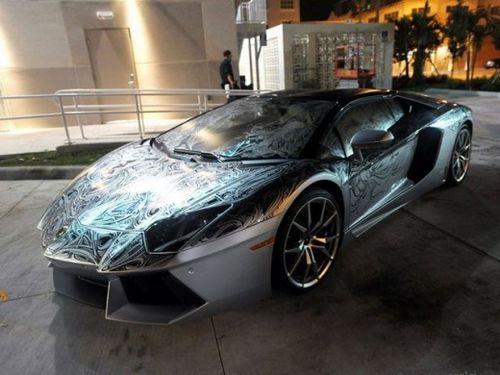 兰博基尼aventador手绘跑车惊现 售价487万元