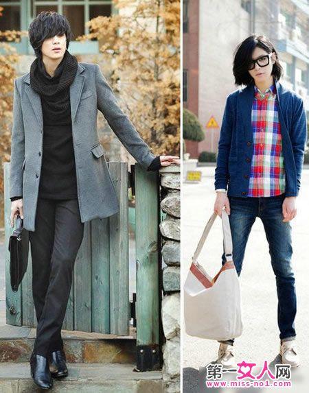 韩国时尚型男街拍 潮流发型时尚搭配学起来