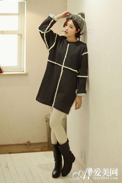 宽松卫衣+小腿裤搭配示范10-宽松卫衣 小腿裤 上宽下紧视觉显瘦