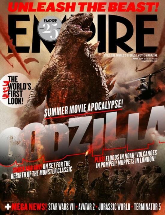 电影《哥斯拉》再登美国《帝国》杂志封面(图)