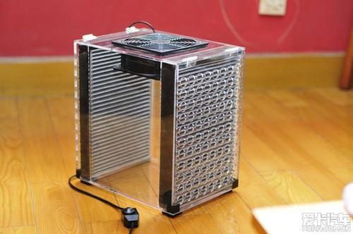 亚克力箱 机箱风扇 滤网diy空气净化器      (本创意来源于爱卡