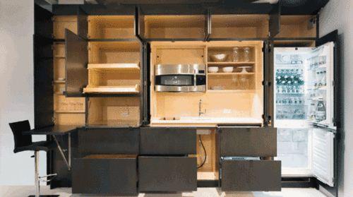 隐形厨房 与全功能厨房玩躲猫猫的游戏