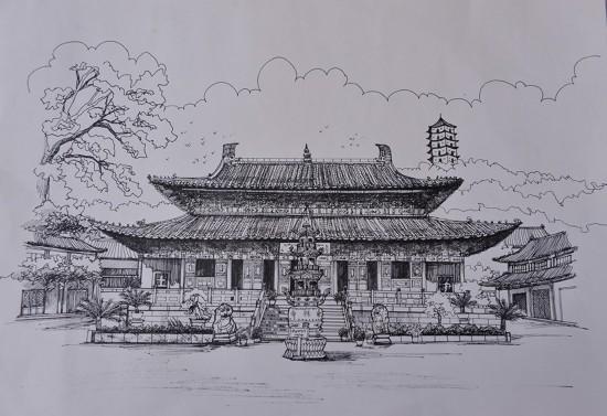 奶茶铅笔手绘图